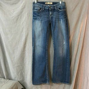 BKE Women Blue Kate Boot Cut Jeans Size 27 x 33.5